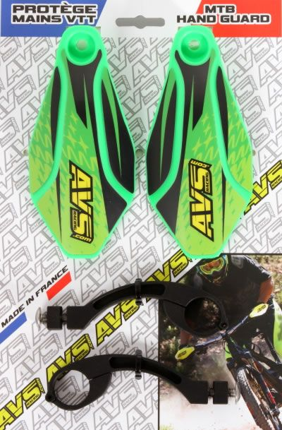 Handguard MTB kit AVS Racing aluminum green