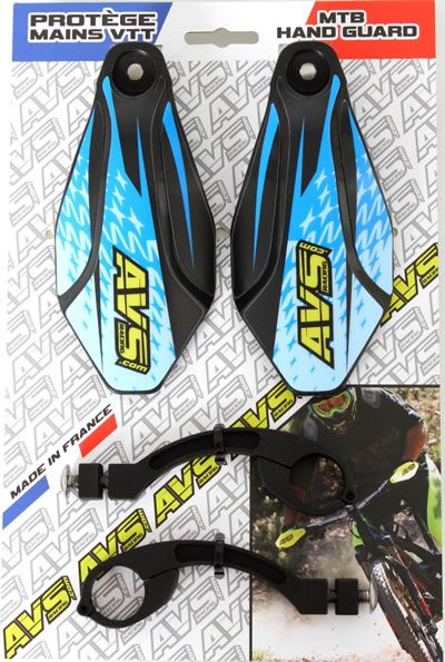 Handguard MTB kit AVS Racing aluminum black blue