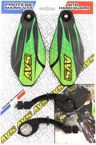 Handguard MTB kit AVS Racing aluminum black green